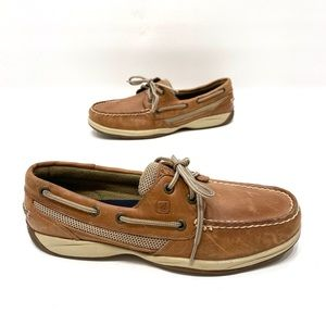 Sperry women's brown leather boat shoes size 8 M